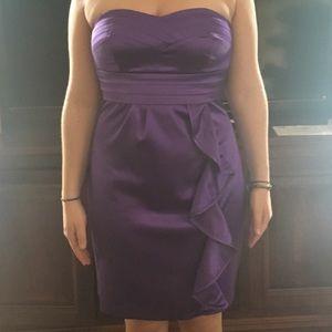 Semi-formal purple evening dress
